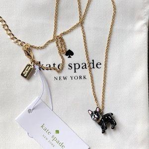 kate spade  Cherie Antoine French Bulldog Necklace